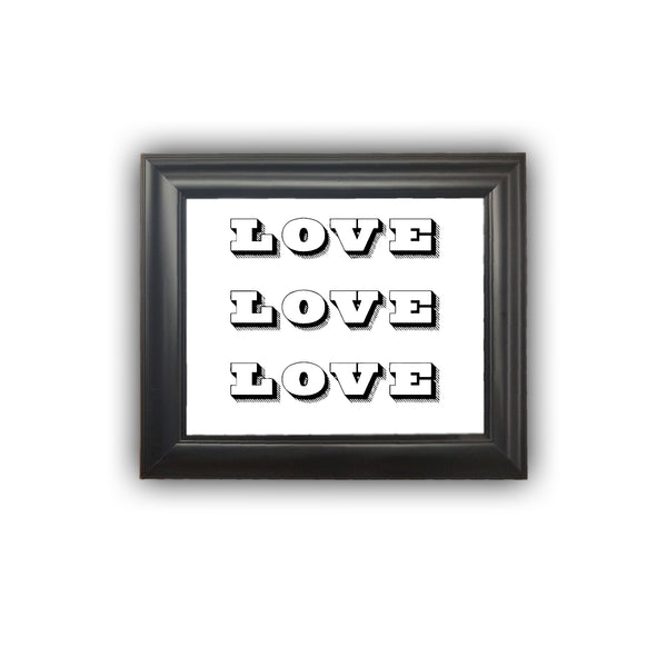 Valentines Day Gift Framed Love Print Gifts For Her Gifts For Him Personalized Picture Frame Home Decor Wall Decor Premium Quality