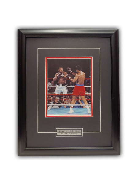 Muhammad Ali vs George Foreman - The Rumble in the Jungle 19' x 23' - Framed Print