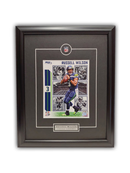 Russell Wilson Seattle Seahawks 19' x 23' Framed Licensed Print