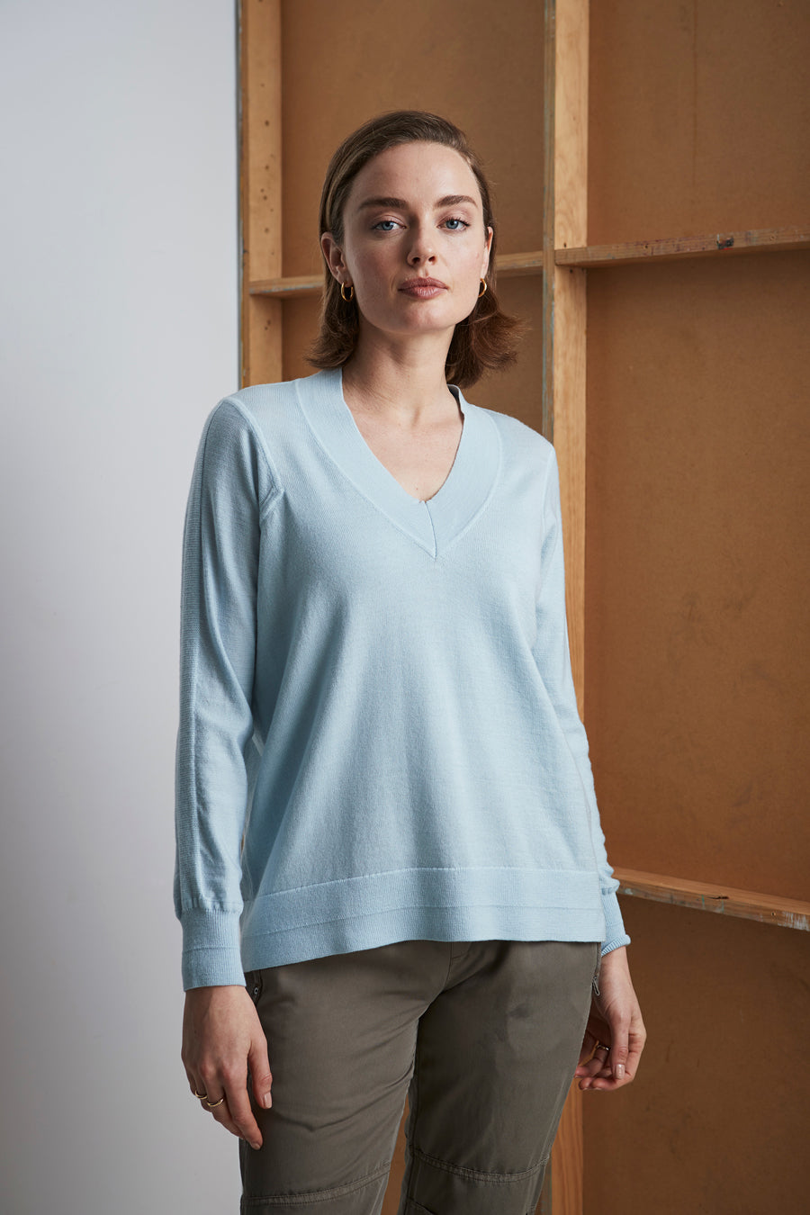 Nicole Sweater - Blue Mist
