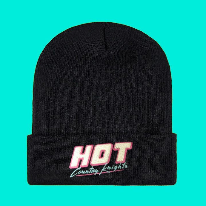 Black Hot Country Knights Beanie