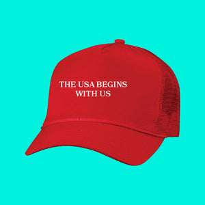 The USA Begins with US Hat