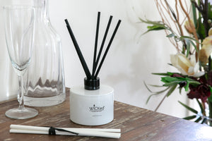 Reed Diffuser White Glass Jar strong scent