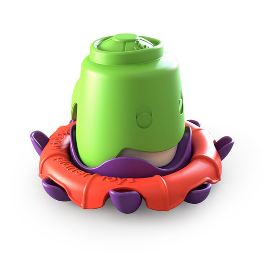 Octo-buoy stacking bath cup set