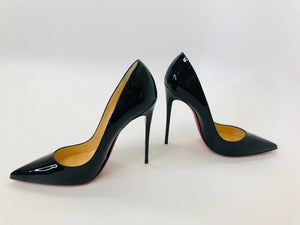Christian Louboutin Black Patent Leather So Kate 120 Pumps size 40