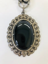Load image into Gallery viewer, Rainey Elizabeth Black Onyx and Diamond Pendant