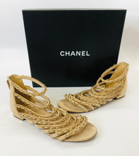 Load image into Gallery viewer, CHANEL Coco Tower Cage Sandals size 38