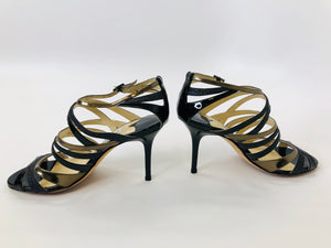 Jimmy Choo Black Strappy Sandals size 37