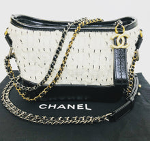 Load image into Gallery viewer, CHANEL Small Leather and Tweed Gabrielle Bag