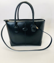 Load image into Gallery viewer, Tod's Navy Blue Leather Shopper Tote Bag With Strap