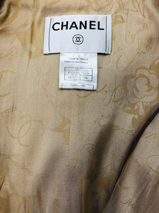 CHANEL Beige and Ivory Double Breasted Jacket size 36