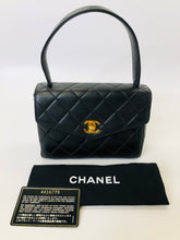 Load image into Gallery viewer, CHANEL Black Quilted Lambskin Mini Kelly Vintage Flap Bag