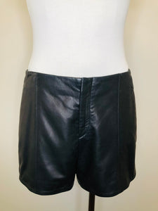 Rag & Bone Black Leather Em Shorts Size 8