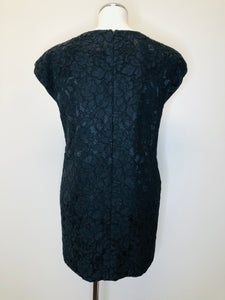 Saint Laurent Noir Lace Dress Size 38
