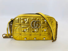 Load image into Gallery viewer, Gucci GG Marmont Pearly Studded Small Cross Body Bag