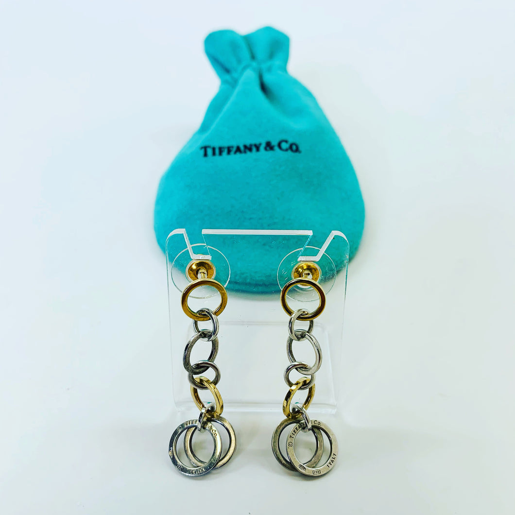 Tiffany & Co. Post Circle Dangle Earrings