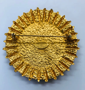 CHANEL Vintage Gold Shield Brooch