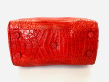 Load image into Gallery viewer, Nancy Gonzalez Red Crocodile Top Handle Bag