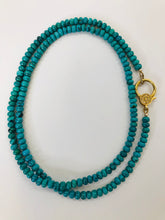 Load image into Gallery viewer, Rainey Elizabeth Turquoise Bead Necklace