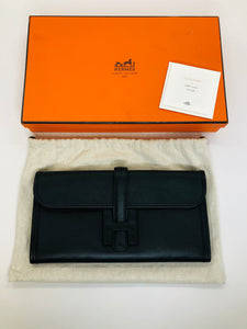Hermès Noir Swift Jige Elan 29 Clutch