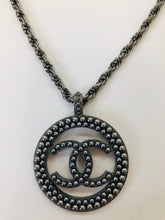 Load image into Gallery viewer, CHANEL Large Grey Pearl Pendant Necklace