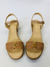 Load image into Gallery viewer, CHANEL Camel Leather Sandals Size 38