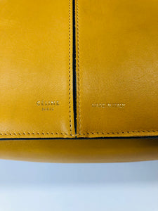 Celine Blonde Calfskin Medium Tri-Fold Bag