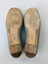 Load image into Gallery viewer, CHANEL Blue Ballerina Flats size 37 1/2