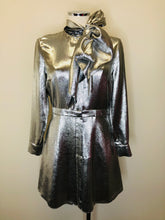 Load image into Gallery viewer, Saint Laurent Argent Metallic Dress Size 38