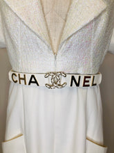 Load image into Gallery viewer, CHANEL Iridescent Ecru Jumpsuit and Belt Size 42