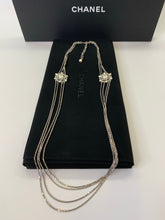 Load image into Gallery viewer, CHANEL Multi Chain Strand Pearl and Crystal CC Necklace
