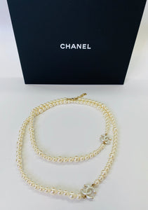 CHANEL Graduated Pearl Long Necklace