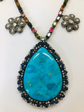 Load image into Gallery viewer, Rainey Elizabeth Sapphire, Diamond and Turquoise Necklace