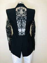 Load image into Gallery viewer, Alexander McQueen Black Lace Panels Jacket Size 38