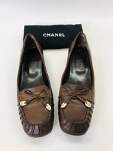 Load image into Gallery viewer, CHANEL Brown Leather Loafers Size 38