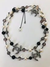 Load image into Gallery viewer, CHANEL Long Pearl and CC Chain Necklace