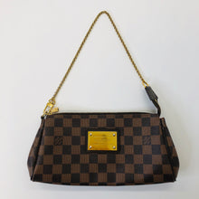 Load image into Gallery viewer, Louis Vuitton Ebene Damier Coated Canvas Eva Clutch