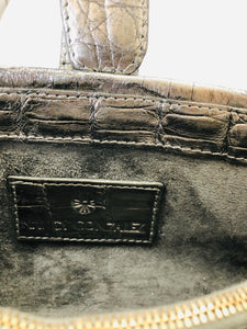 Nancy Gonzalez Silver Crocodile Crossbody Bag