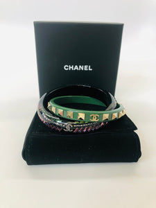 CHANEL Double Bangle Bracelets