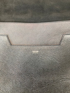 Tom Ford Black Grained Leather Large Jennifer Cross Body Bag