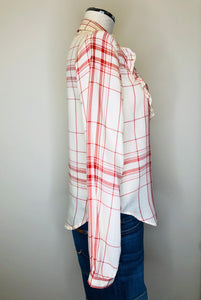 Frame Button Down Ruffle Front Shirt Size Large
