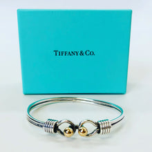 Load image into Gallery viewer, Tiffany & Co. Double Hook & Eye Bangle Bracelet