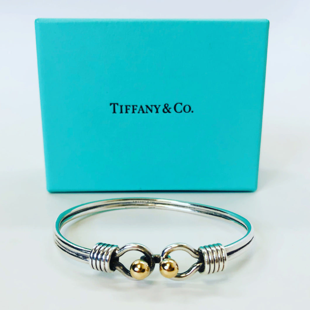Tiffany & Co. Double Hook & Eye Bangle Bracelet