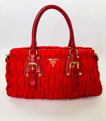 Prada Small Gaufre Tote Bag