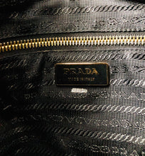 Load image into Gallery viewer, Prada Black Shoulder Bag with Gold Grommets