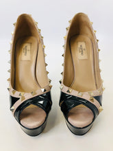 Load image into Gallery viewer, Valentino Garavani Rockstud Peep Toe Platforms Size 37 1/2