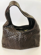 Load image into Gallery viewer, Bottega Veneta Dark Ebano Intrecciato Leather Shoulder Bag