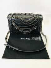Load image into Gallery viewer, CHANEL Black Medium Chain Boy Bag