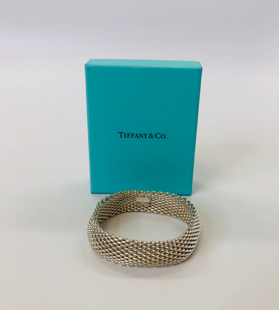 Tiffany & Co. Sterling Silver Somerset Mesh Bracelet