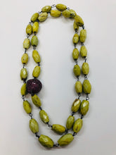 Load image into Gallery viewer, Rainey Elizabeth Green Turquoise and Ruby Necklace